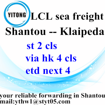 Good Quality for Sea Freight LCL Shantou Global Inernational Freight Agent to Klaipeda export to India Factory