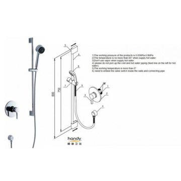 Brass Shower Faucet Concealed Bath Shower Mixer