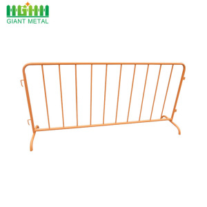 Galvanized traffic crowd control barrier