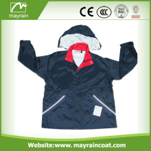 Outdoor Black Polyester Jacket With Custom Logo