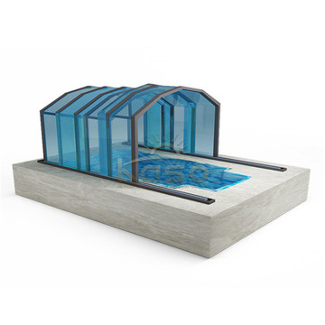 Automatic Aluminum Screen Greenhouse Swimming Pool Enclosure