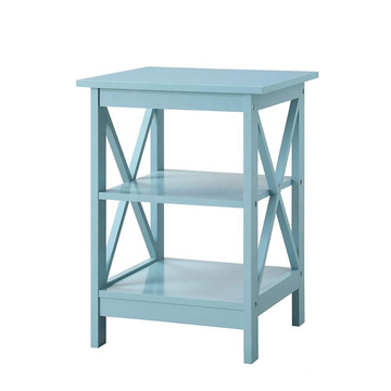 Sky Blue Finish vanity cabinet Wooden Factory modern bedside table