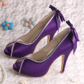 High Heel Purple Party Shoes for Ladies