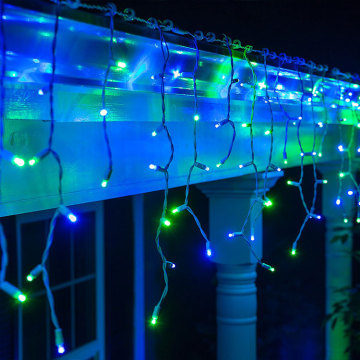 Hot New Products for Led Ice Cycle Lights Blue and Green Outdoor Icicle Christmas Lights export to Czech Republic Manufacturer