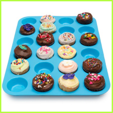Holiday sales for 24 Cups Silicone Muffin Pan Multi-Purpose 24 Cup Large Muffin Bakeware Pan supply to Gabon Exporter