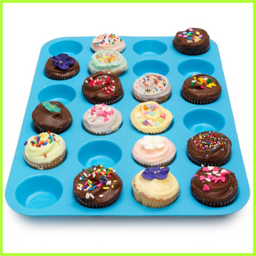 Supply for Large Muffin Pan Multi-Purpose 24 Cup Large Muffin Bakeware Pan export to Estonia Exporter