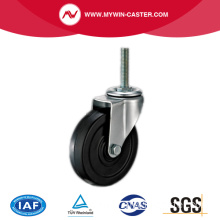 Threaded Stem Light Duty Rubber Castor