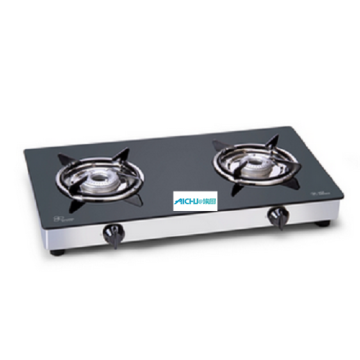 2 Alloy Burners Glass Gas Stove