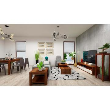 Modern Wooden Living Room Set