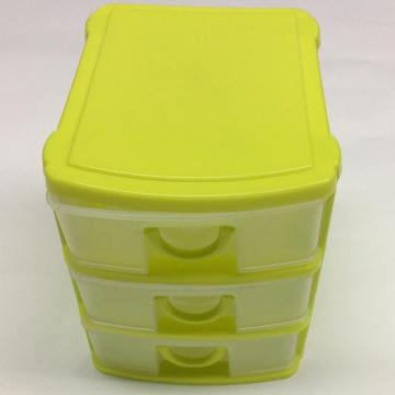Plastic classified three-layer drawer storage box