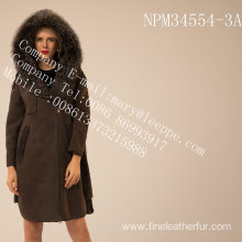 Spain Merino Shearling Coat In Winter For Women