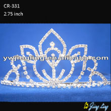 Crystal wholesale flower wedding crowns for bridal