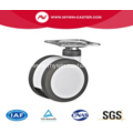 3 Inch Plate Swivel PU And PA Material Medical Twin Caster