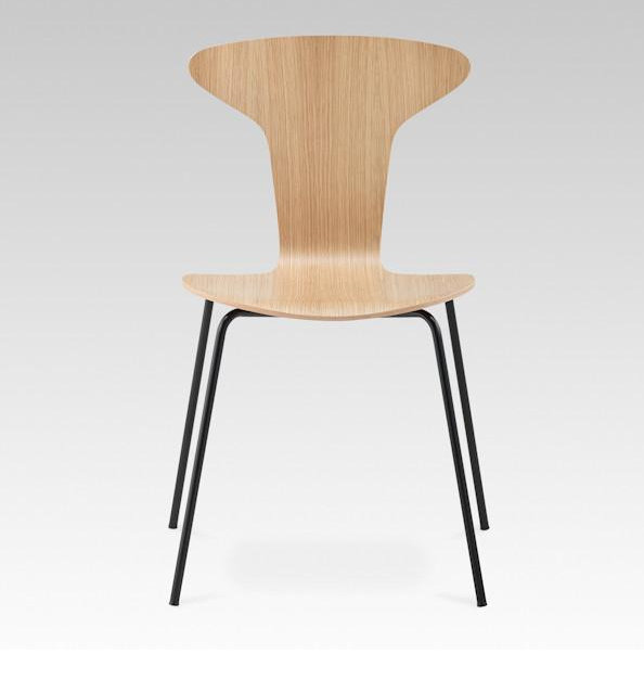 Fast food restaurant wood chair