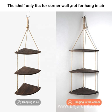Wooden Wall Hanging Corner Shelf