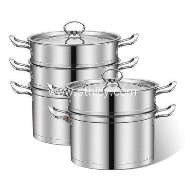 European Double Stainless Steel Steamer Pot