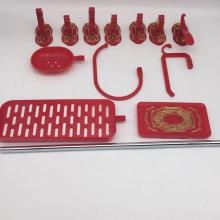 Red Chinese style Bathroom Accessories set