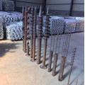 Hot dipped galvanized steel Q235 Ground screw with square flange