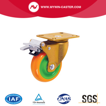 Rotating Plate PU Wheel Industrial Caster Brake