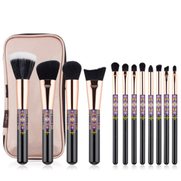 12pcs soft fiber brushes OEM makeup brushes set