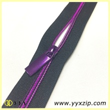 Custom Plating Purple Gold Nylon Coil Zipper
