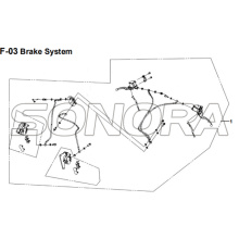 F-03 Brake System for XS175T SYMPHONY ST 200i Spare Part Top Quality