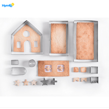 10PCS 3D GingerBread House Cookie Cutter Set