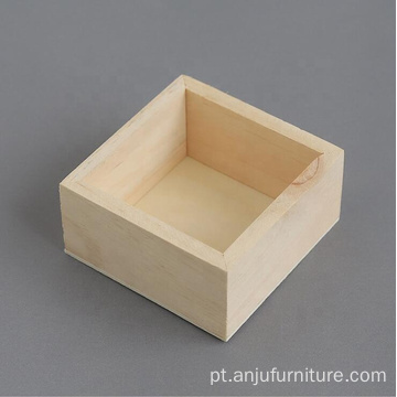 Small Square Packaging Wood Box