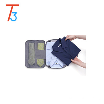 factory Shirt and Ties Storage Bag Organizer Wrinkle Free Shirt Travel Packing Clothes Holder polyester drawstring bag