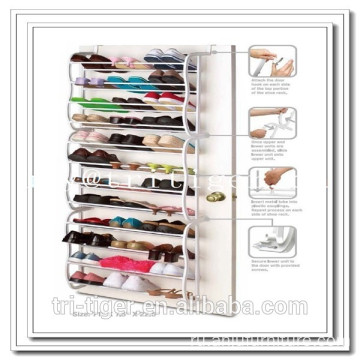 36 Pair Over The Door Hanging Shelf Shoe Rack Storage Stand Organiser Holder Hoo