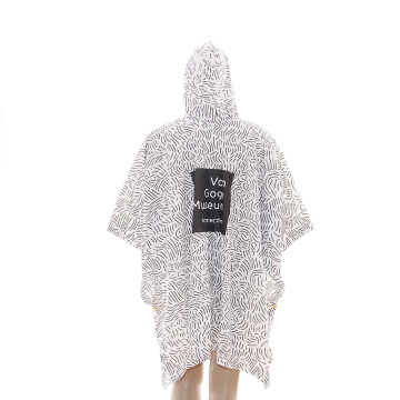 6p pvc rain poncho with logo