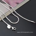 1.2mm Sterling Silver Snake Chain Necklace For Wedding Party