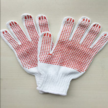 Canvas Cotton PVC Dots Garden Working Safety Gloves