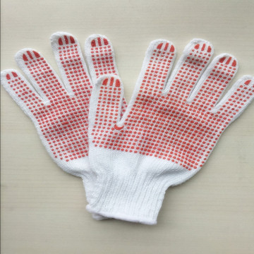PVC Stripped Dotted Cotton Work Glove