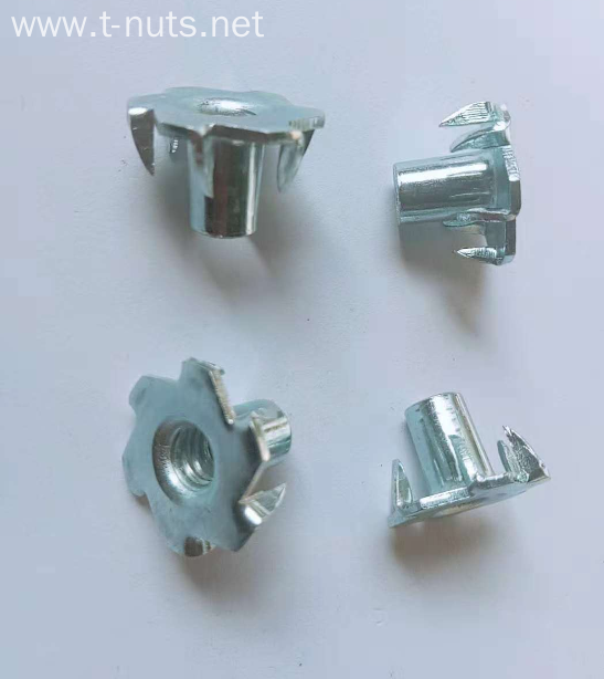 Full thread Carbon steel Zinc plated 6claw nut