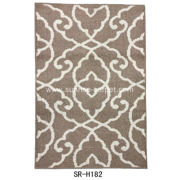 Hand Hooked Carpet Flower Design