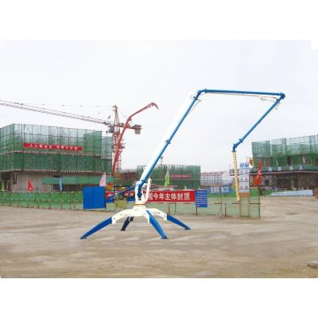 Hydraulic mobile concrete pump boom placer