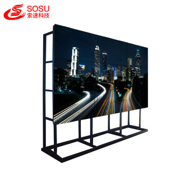 Video wall de 55 polegadas com moldura transparente