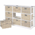 3x3 Storage Unit - 9 Drawer with Seagrass Baskets 3x3 Storage Unit - 9 Drawer with Seagrass Baskets