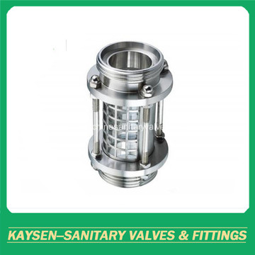 Sanitary sight glass thread end with protection cover
