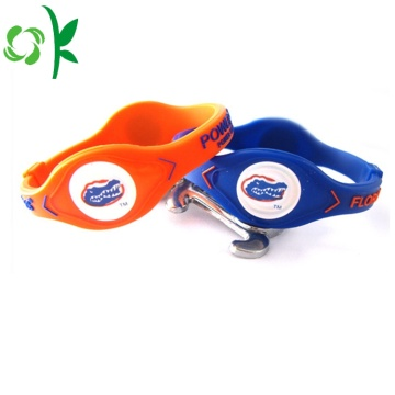 Waterproof Cool Custom Negative Ion Power Silicone Bracelet