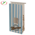 Top quality packaging paper bag with window