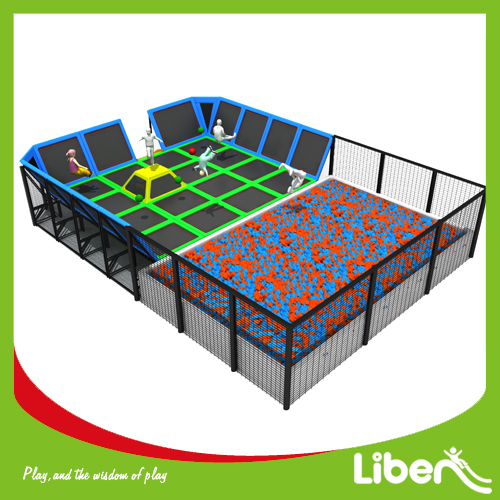 Large inflatable trampoline amusement park