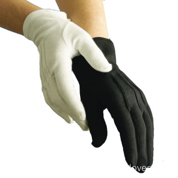 Quality Cotton White and Black Gloves
