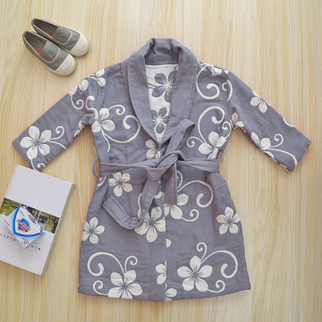 Lightweight Cotton Bathrobe Soft Robe For Children