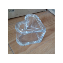 Clear Heart Shape Glass Jewelry Box For Valentine'S Day