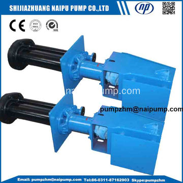 vertical slurry pump with rubber liners