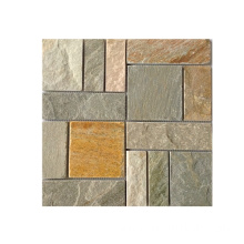 Top for Slate Mosaic 30×30cm Natural Beige Slate Mosaic export to Spain Manufacturers