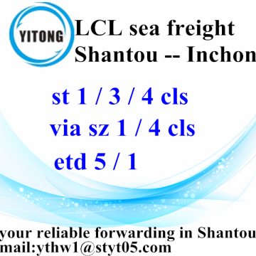 Good Quality for LCL Transport LCL Logistic Services from Shantou to Inhcon export to Japan Factory