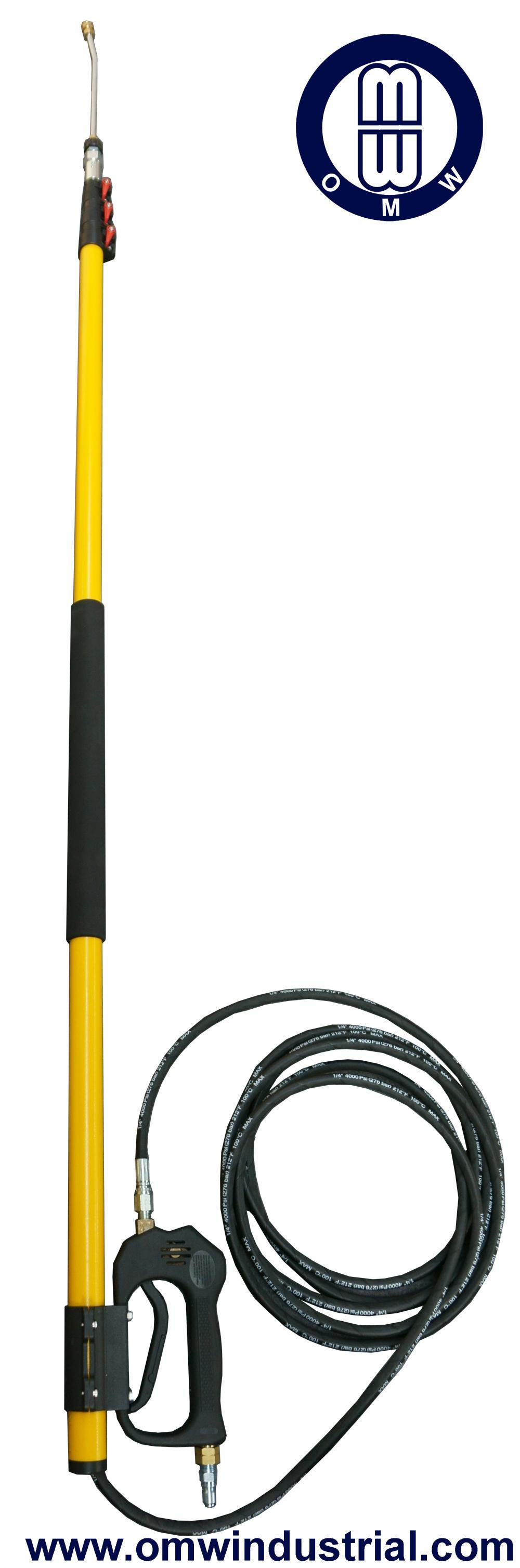 "18 ft 4000 PSI Pressure Washer Telescoping Wand Assembly 3/8"" Inlet 1/4"" Outlet"